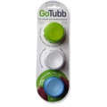 GoTubb Travel Container 3 pack small Blue Clear Green