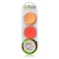 GoTubb Travel Container 3 pack 86ml Orange Clear Red