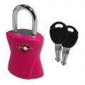 Global TSA Luggage Keyed Lock Neon Pink
