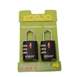 Korjo TSA Combi Lock Duo pack